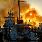 Fire at Marsh Harbour